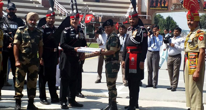 Pakistan National Day celebration at Attari Wagah Border