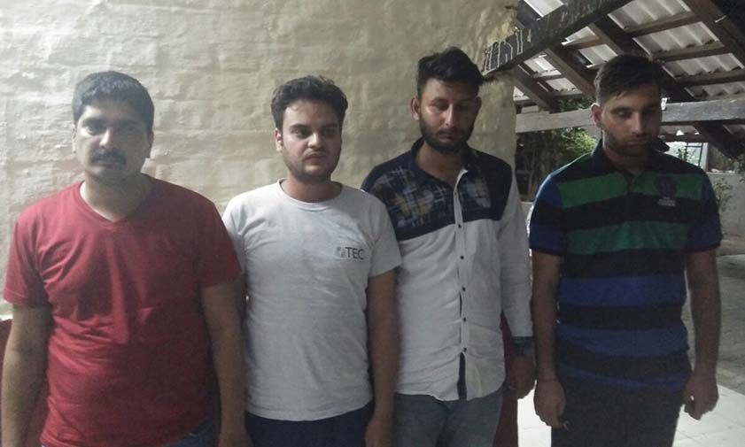 Police arrested four accused