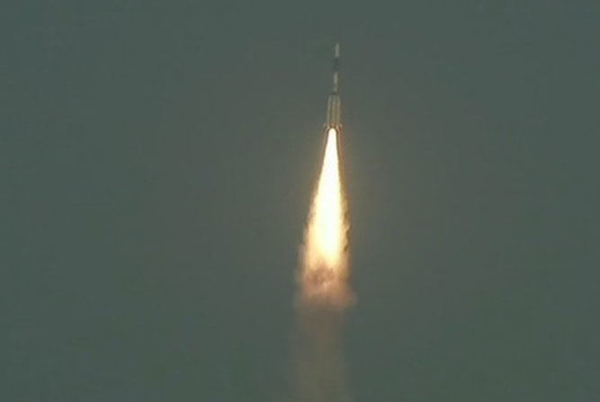 ISRO's GSLV rocket carrying the country's communications satellite GSAT-6A