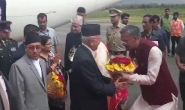 uttarakhand CM welcomed Nepal's PM