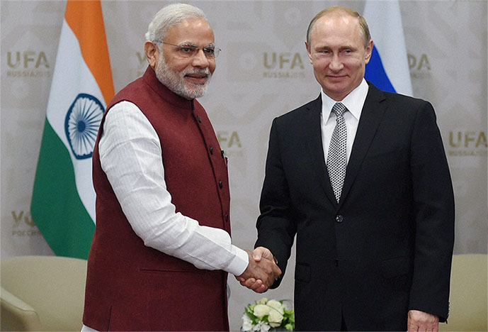 Prime Minister Narendra Modi with Russian President Vladimir Putin (File Photo)