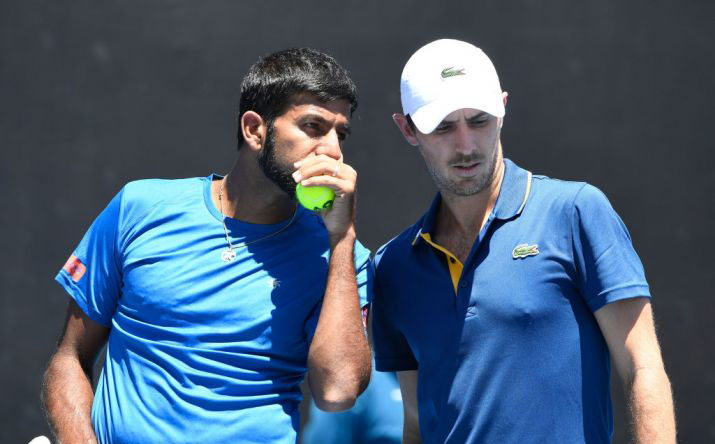 Rohan Bopanna and his French partner Edouard Roger-Vasselin (File Photo)