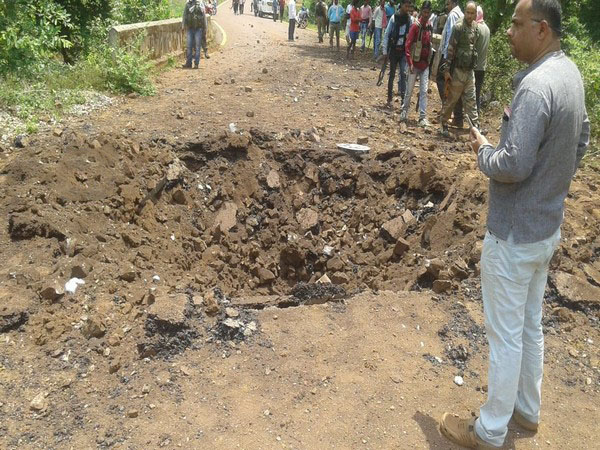 IED blast on a police vehicle in Dantewada's Cholnar Village