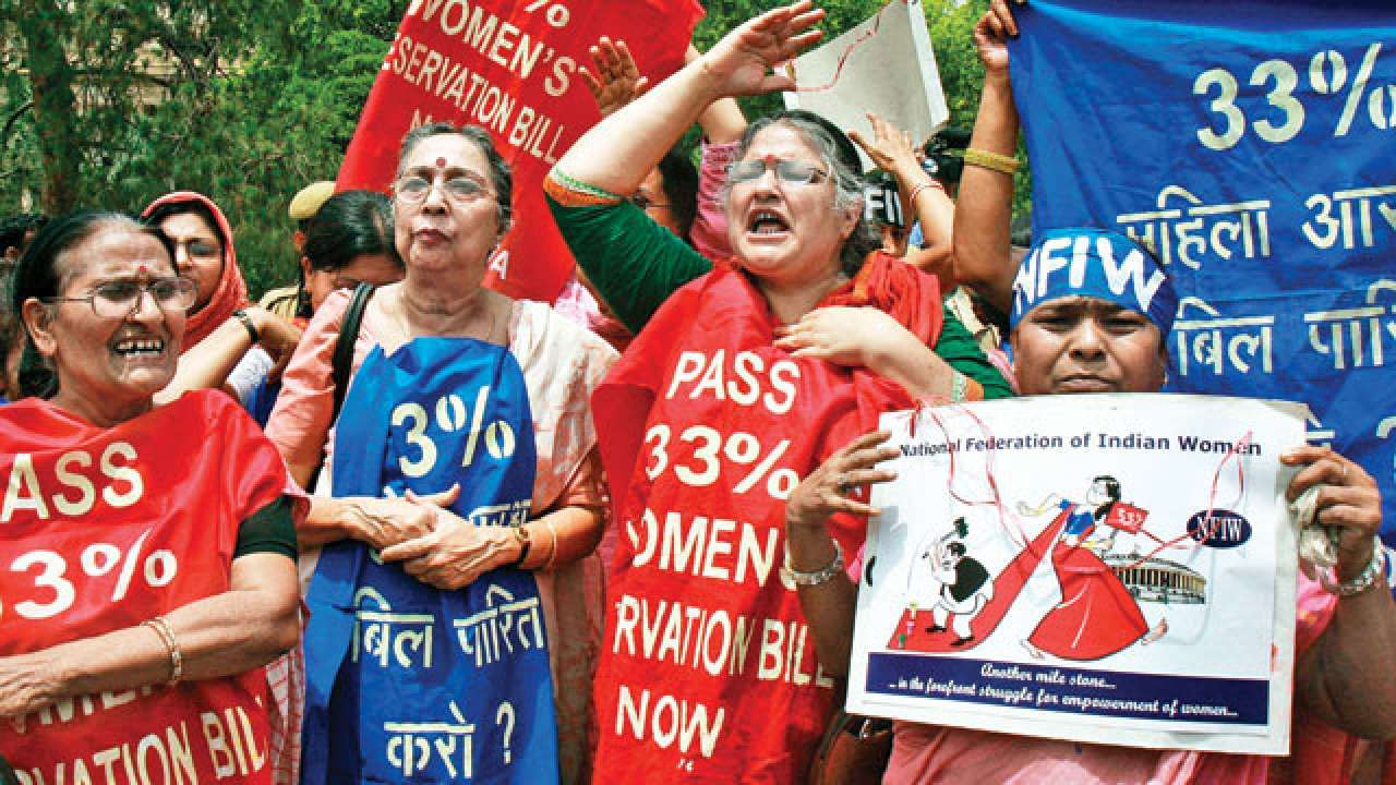 File Photo:  A protest seeking passing of Women's Reservation Bill