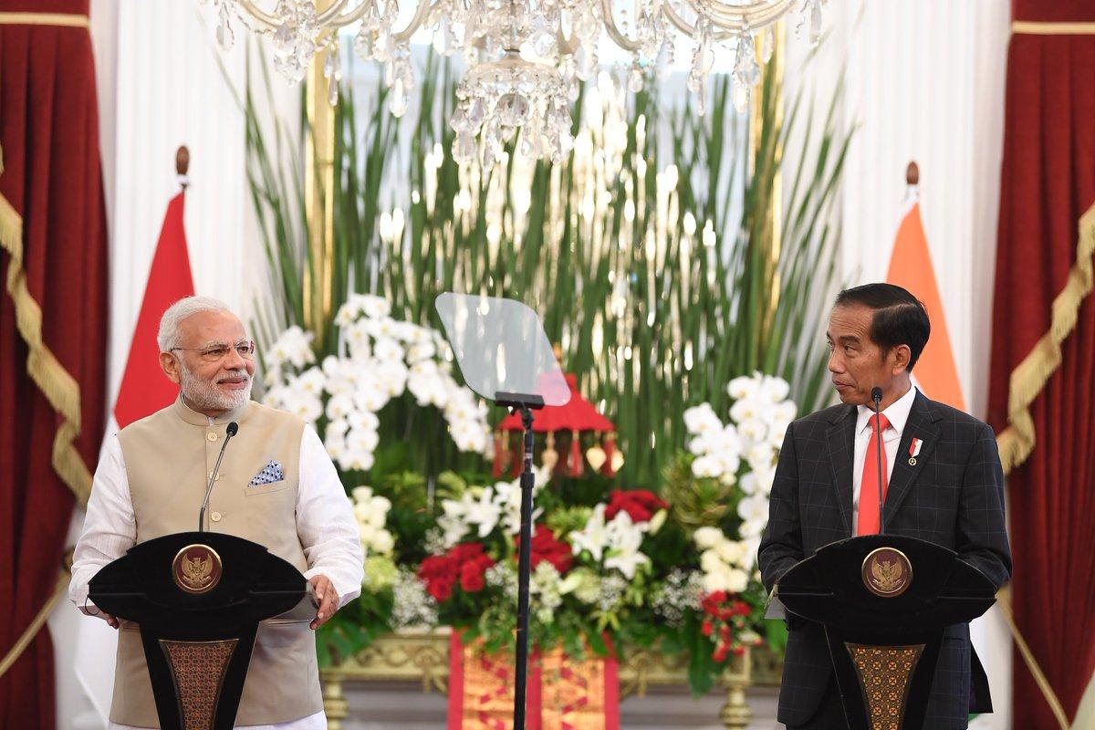 Prime Minister Narendra Modi with President Joko Widodo