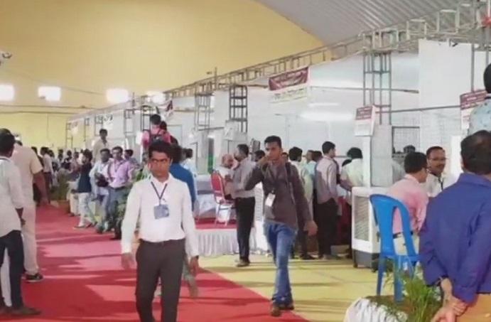 Counting centre of Maharashtra