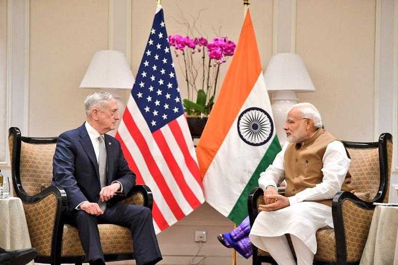 Prime Minister Narendra Modi and US Secretary of Defense James Mattis