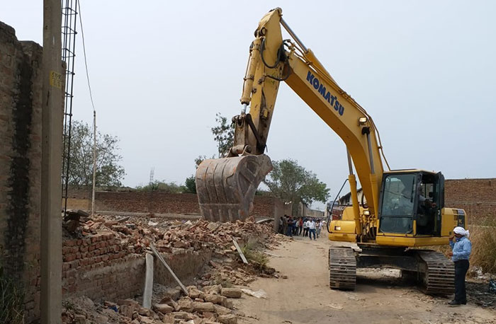 Demolition drive in Alipur