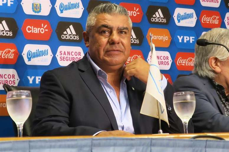 Argentine Football Association president Claudio Tapia