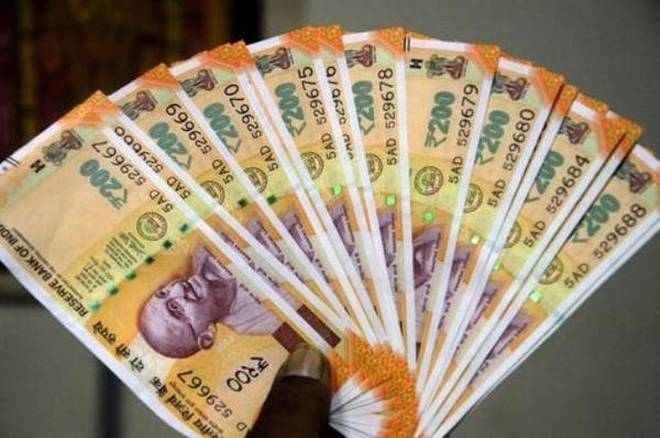 Rupee falls by 10 paise