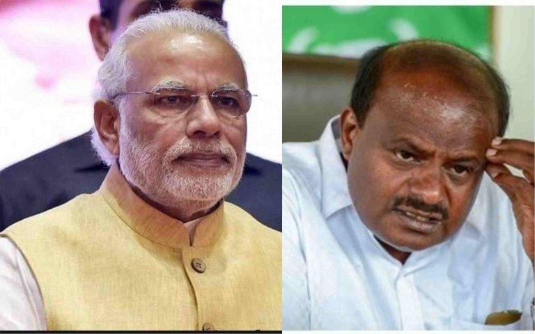 Karnataka Chief Minister H.D. Kumaraswamy and Prime Minister Narendra Modi