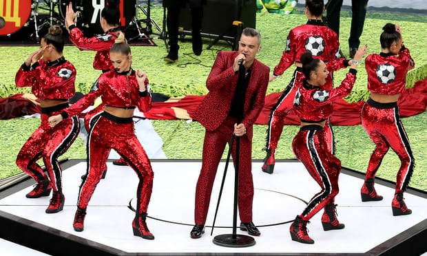 Robbie Williams opens World Cup