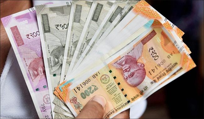 Rupee falls by 32 paise