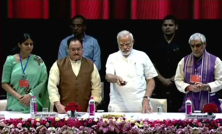 PM Modi laying foundation stone of National Centre for Aging at AIIMS