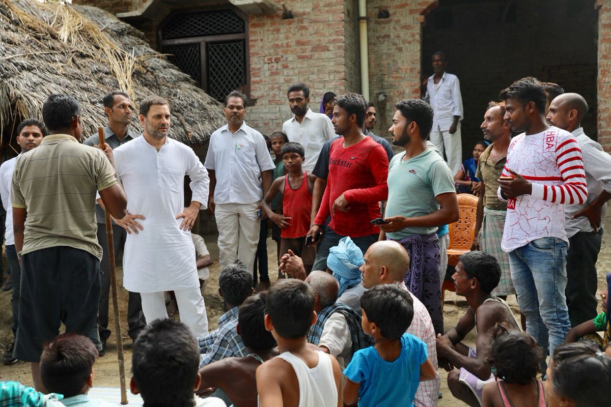 Congress chief Rahul Gandhi interacting with the people