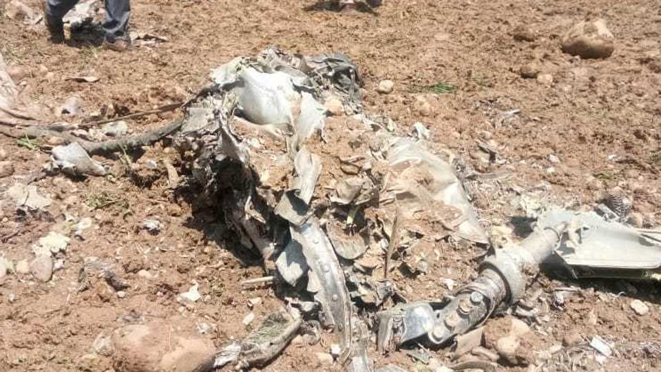MiG 21 fighter jet crashed