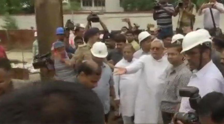 Bihar Chief Minister Nitish Kumar taking stock of the situation