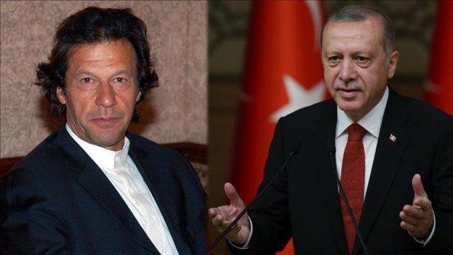 Turkish President Recep Tayyip Erdogan and Imran Khan