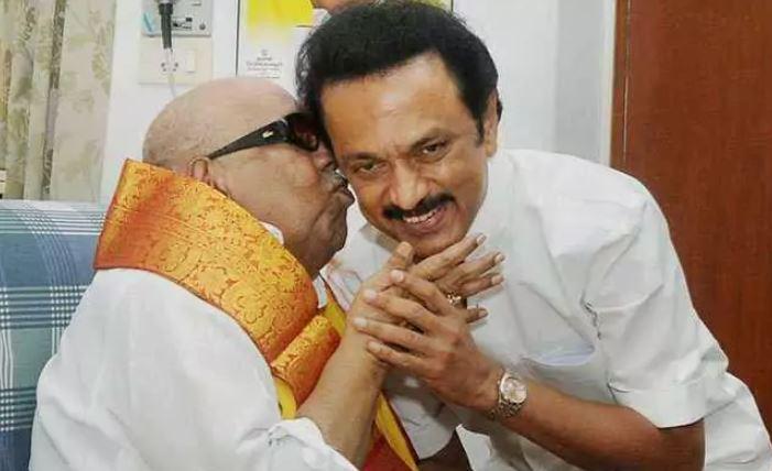 M.K. Stalin  and  M Karunanidhi
