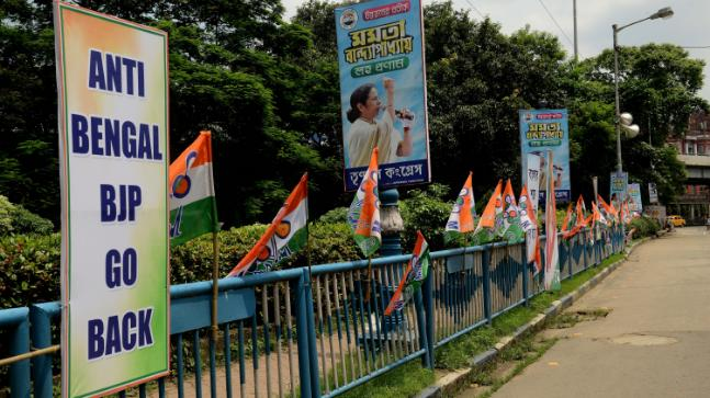 Anti-Bengal BJP Go Back poster