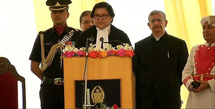 Justice Gita Mittal taking oath