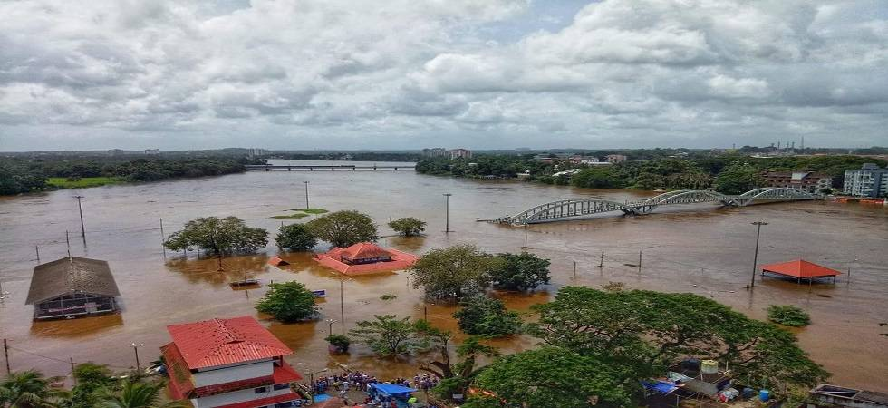A site of the flood in Kerala