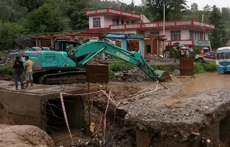 A landslide has occurred in Banala area in Mandi