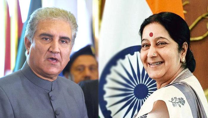 Sushma Swaraj and Shah Mehmood Qureshi