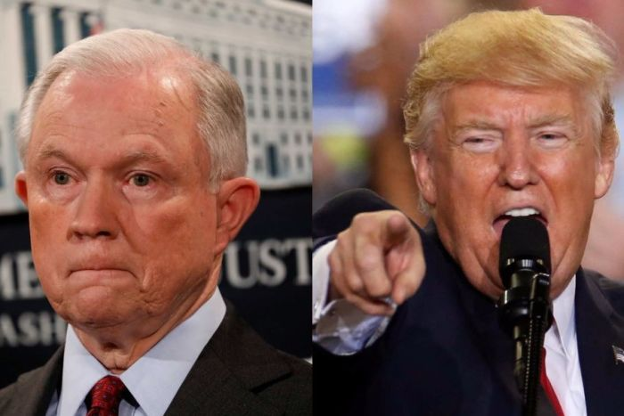 US President Donald Trump and Attorney General Jeff Sessions
