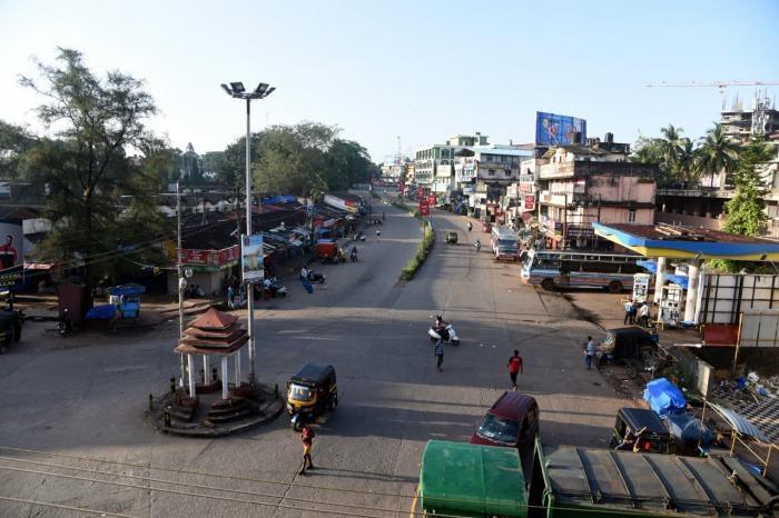 A site of the bandh in Karnataka