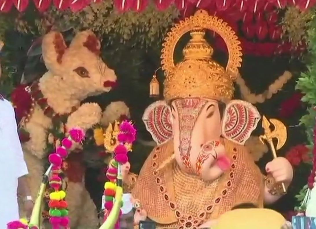 Dagdusheth Halwai Ganapati Temple on the festival of Ganesh Chaturthi