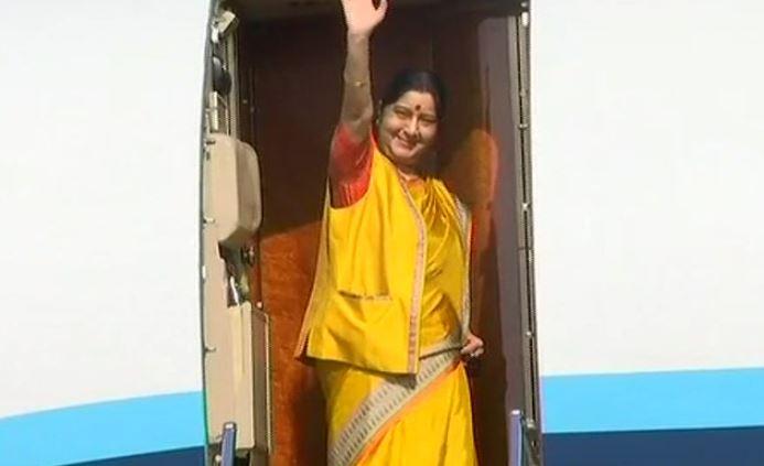 Sushma Swaraj seaplane for  Moscow