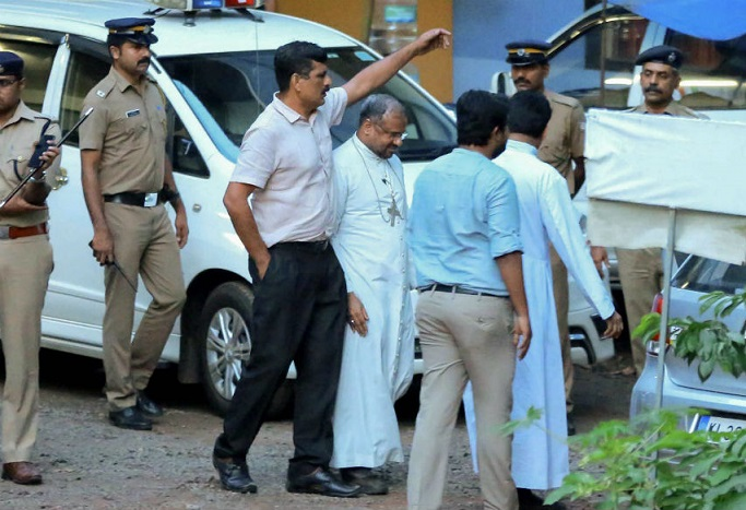 Indian bishop arrested on charges of raping nun