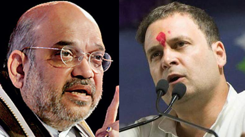 BJP president Amit Shah and Congress chief Rahul Gandhi (File Photo)