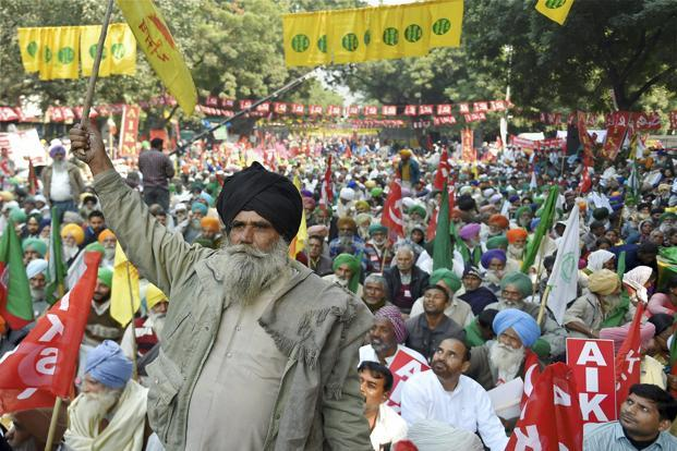 Farmers at protest