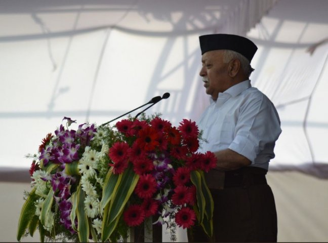 Rashtriya Swayamsevak Sangh chief Mohan Bhagwat