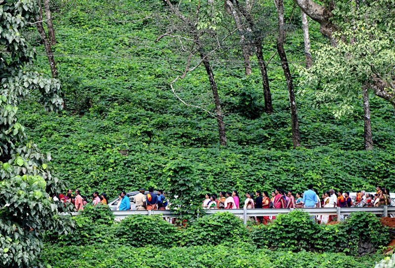 Women began trekking to Sabarimala hill