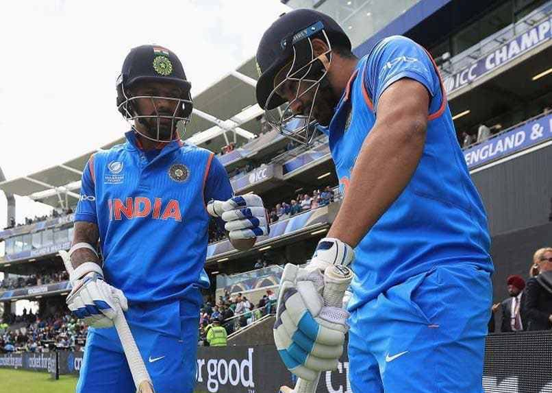 Indian opener Shikhar Dhawan and Rohit Sharma