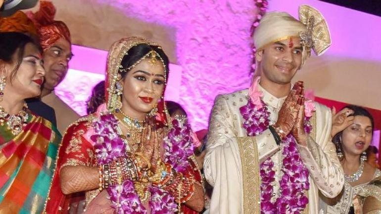 Tej Pratap Yadav and  Aishwarya Rai marriage's picture  in Patna in May