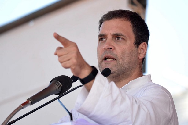 Congress chief Rahul Gandhi
