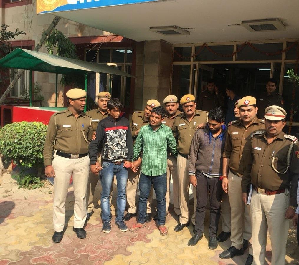 Police arrested three accused people