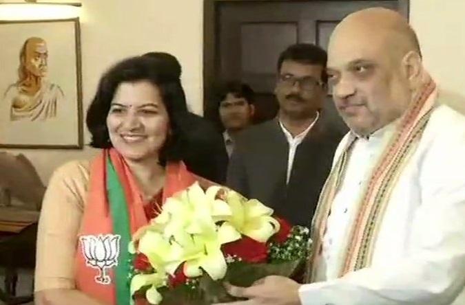 Aparajita Sarangi  joins the Bharatiya Janata Party