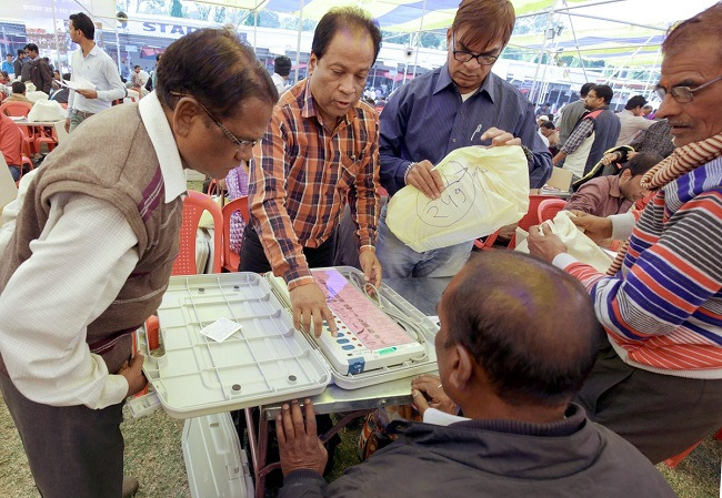 EC Official working during MP Assembly Elections