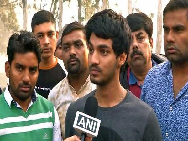 Abhishek, son of deceased cop Subodh Kumar who was killed on Monday in Bulandshahr violence
