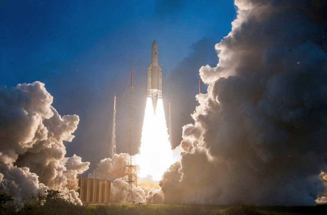 GSAT-11 launches from the Spaceport in French Guiana
