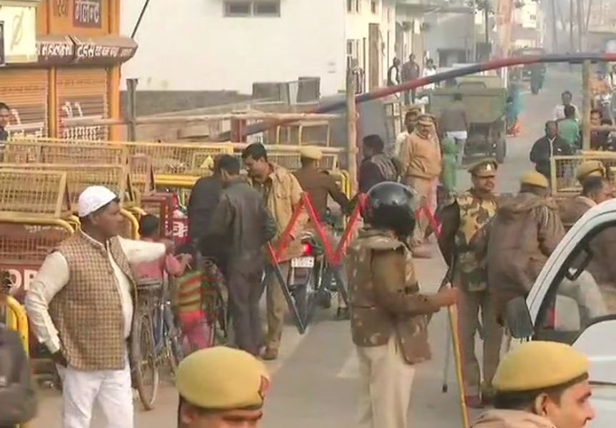 Security was beefed up in Uttar Pradesh's Ayodhya town