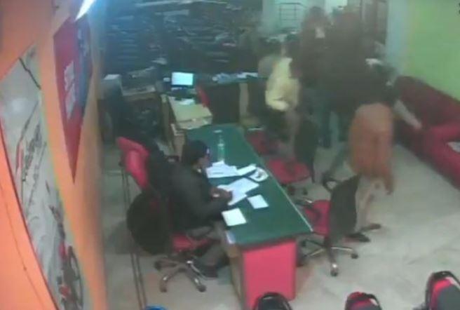 A still of CCTV footage