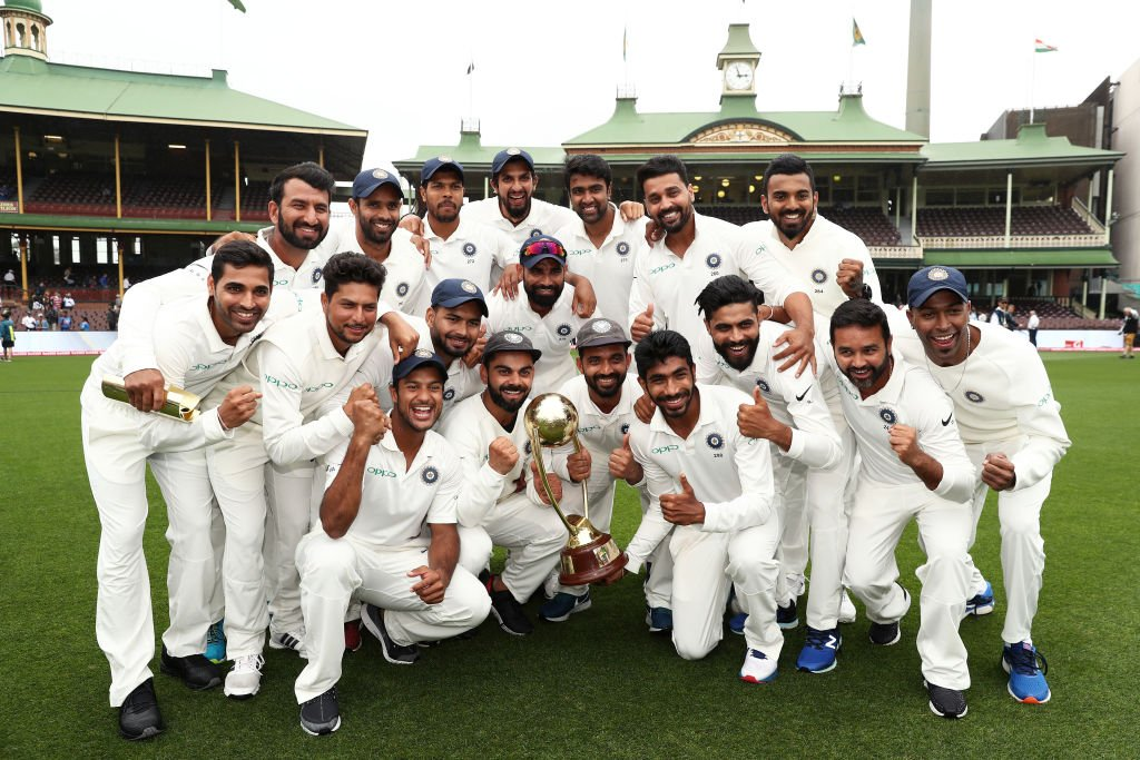 Team India after the victory