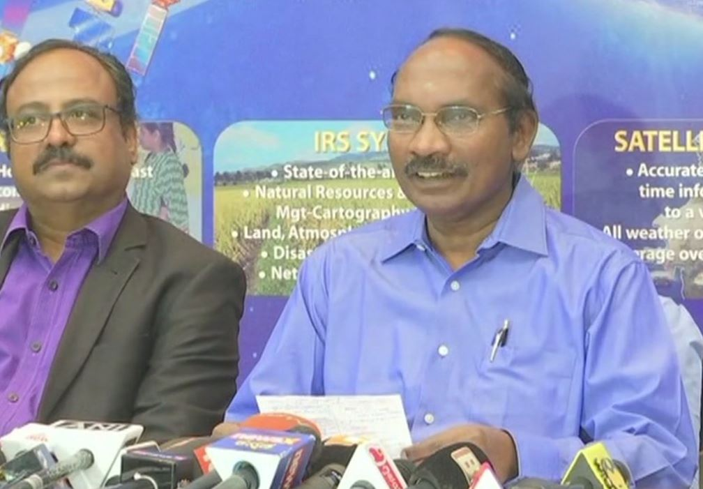ISRO Chief K Sivan addresses the media in Bengaluru