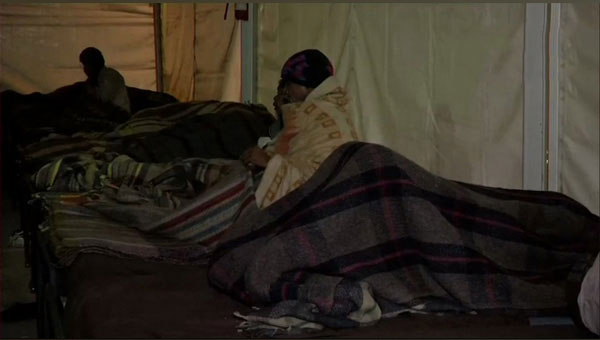 Visual from a night shelter in Nizamuddin area